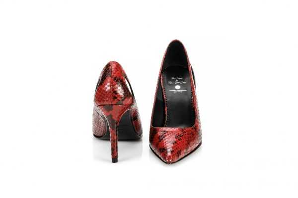 Heeled devil pumps made in portugal