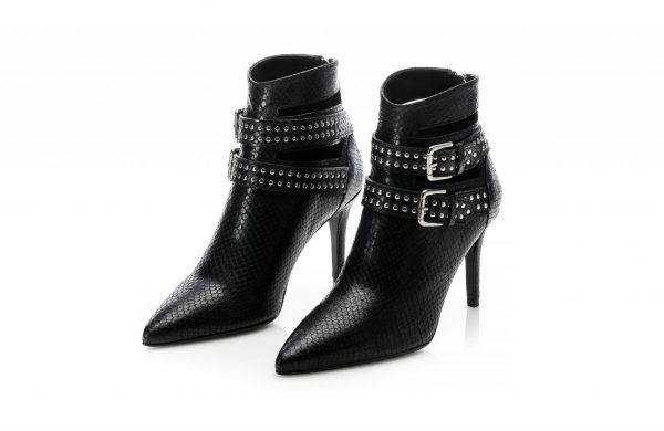 Black Leather ankle Boots made in portugal