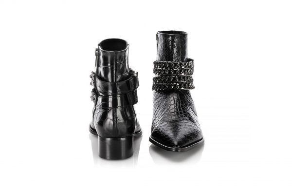 Black leather men Boots made in portugal