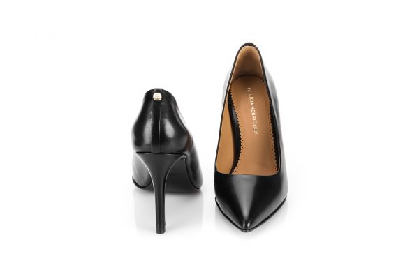 High Heel black leather portuguese shoes