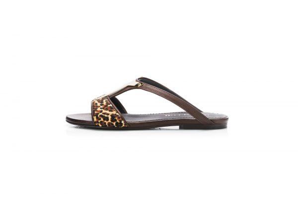 Flat Sandals – Gold Shield