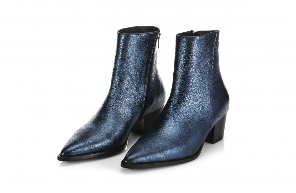 Leather Ankle Boots – Star Blue