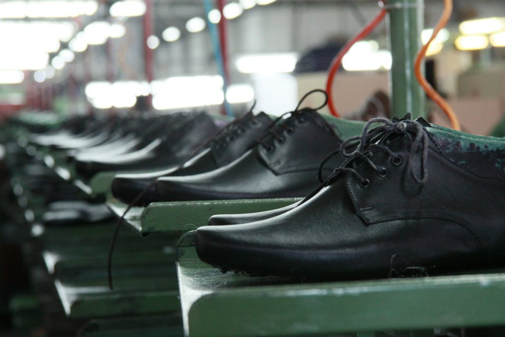 Portuguese shoes used to be made in small factories with low technology